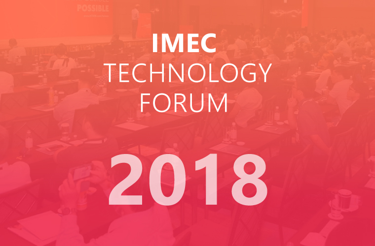 CRE8's Founder Kris Verstockt Invited as Keynote Speaker at Imec Technology Forum 2018